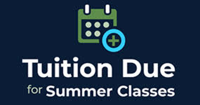 Summer Tuition is due on April 26.  Payments can be made via phone, mail, or online.