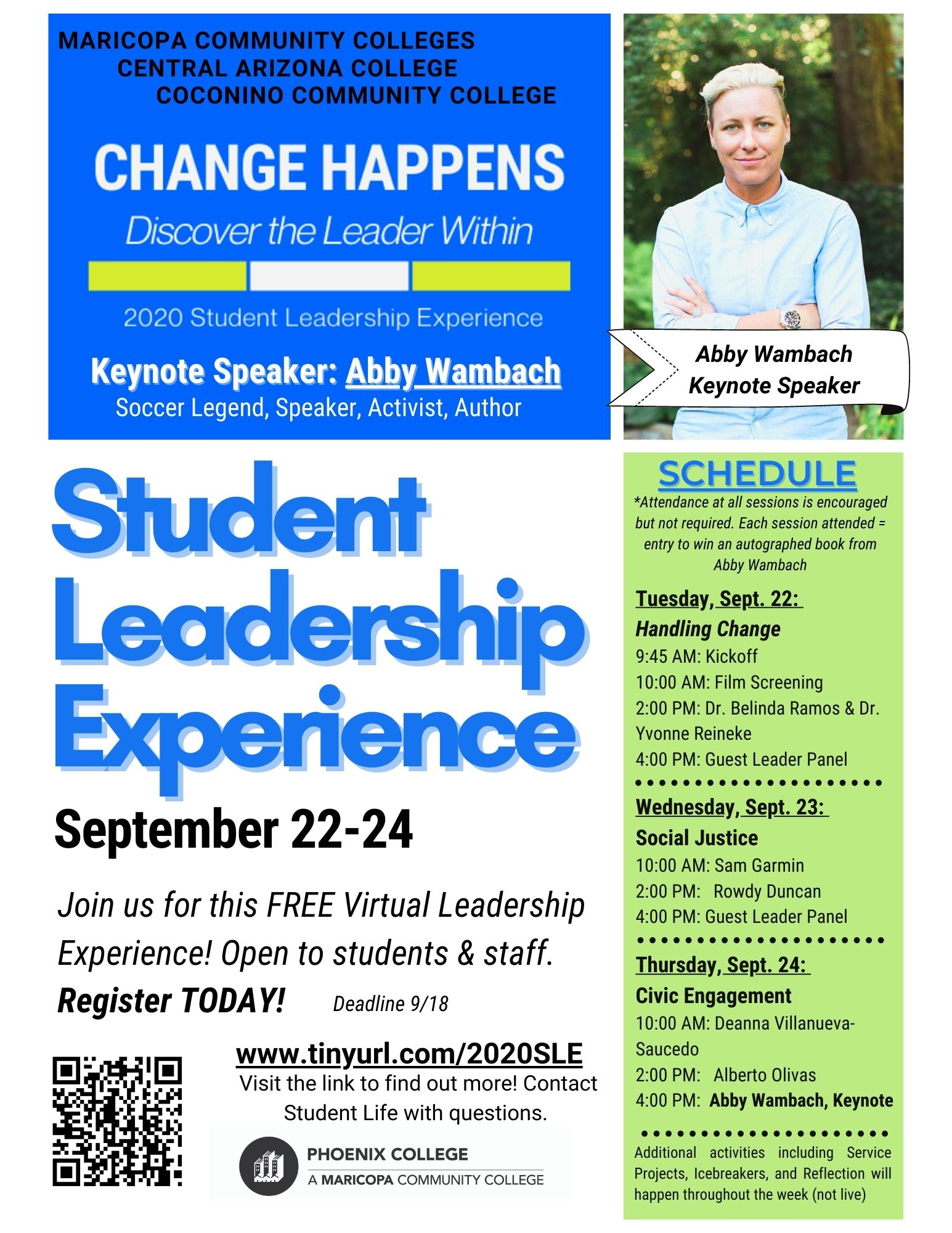 3 day student life retreat flyer