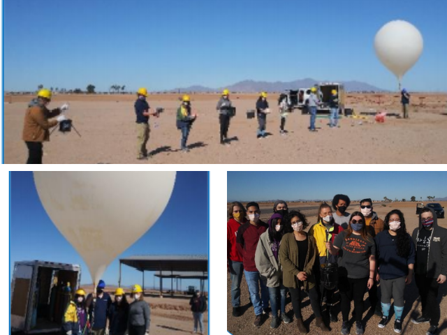 Students on the PC NASA Ascend Team launching atmospheric balloon