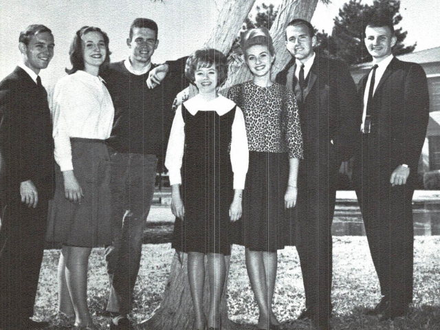 Peter Banko with Second Semester Associated Students - 1964