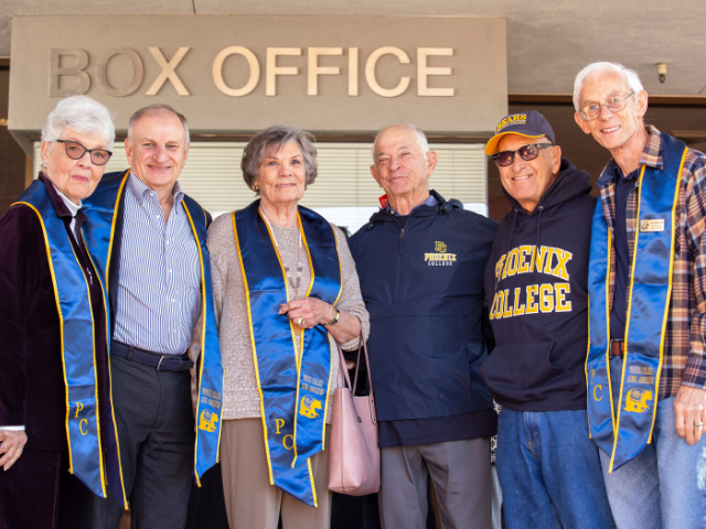 Peter with Half Century Club Members at PC Centennial Kick-Off Event (January 2020)