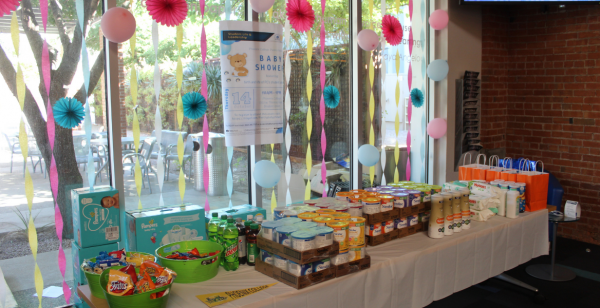 Image of Baby Shower Table at Student Life