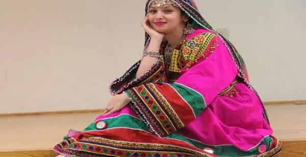 Woman in cultural outfit