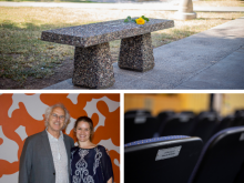 Tribute Gifts at Phoenix College - bench, scholarship, engraved Bulpitt seat